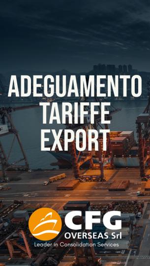 Adeguamento tariffe export